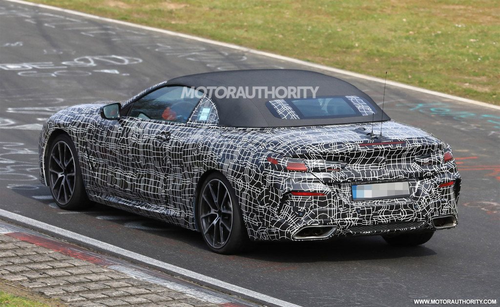 2020 BMW 8-Series Convertible spy shots and video