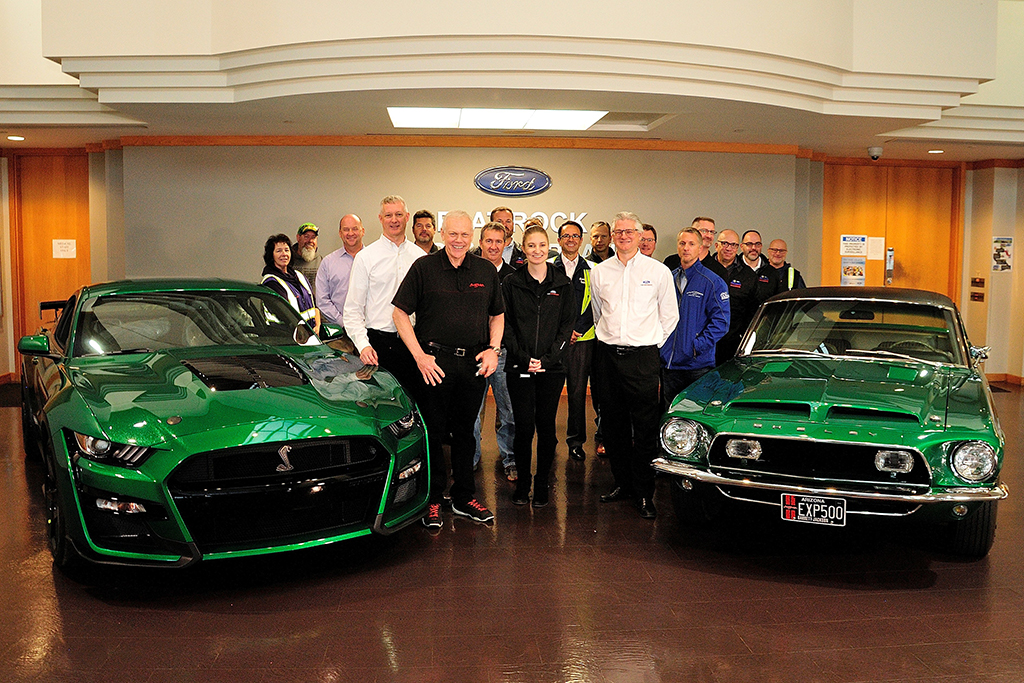 2020 Ford Mustang Shelby GT500 #001 honors the original Green Hornet