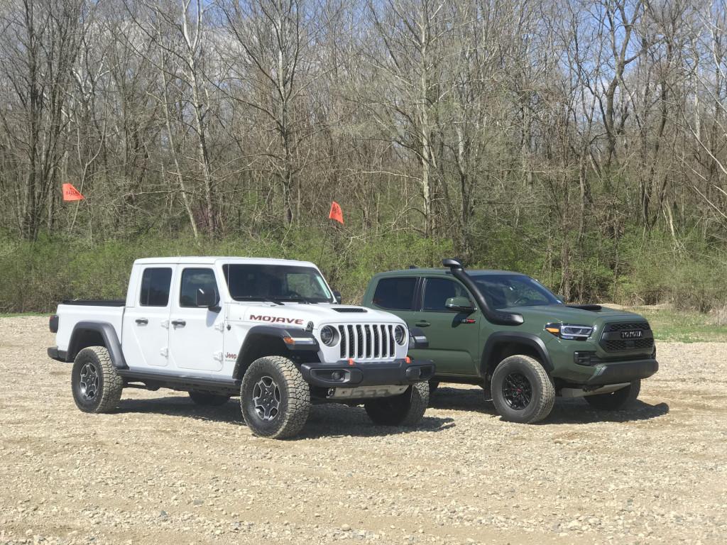 2020 Jeep Gladiator Mojave and 2020 Toyota Tacoma TRD Pro