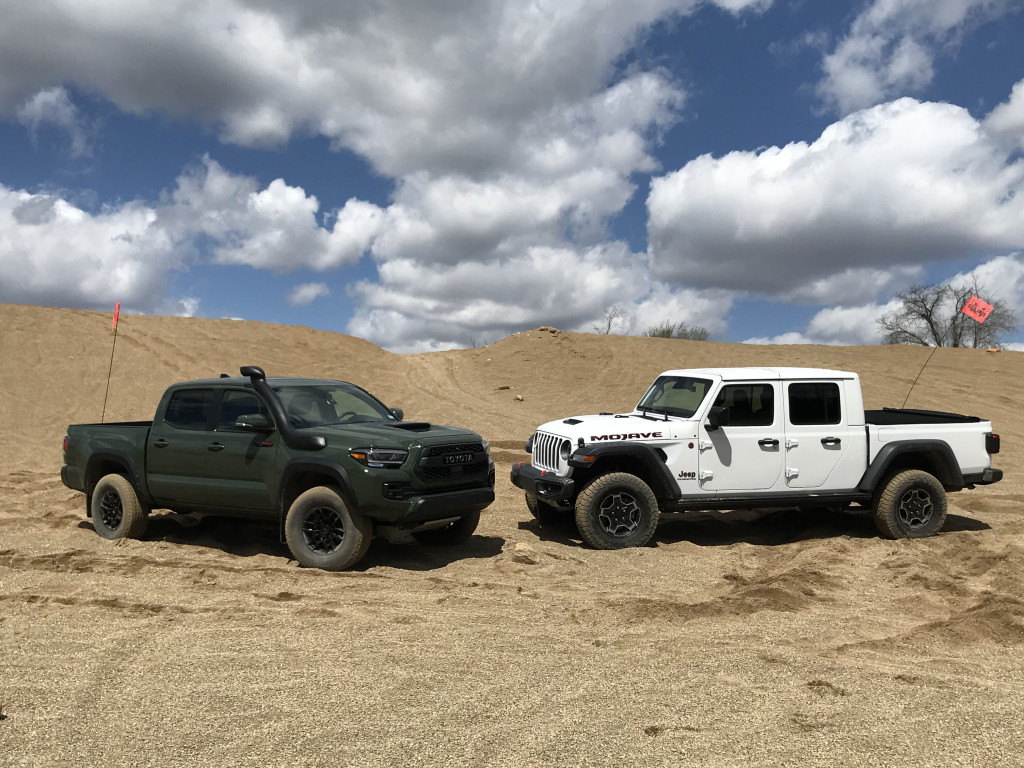 Rock of ages: 2020 Jeep Gladiator Mojave challenges the 2020 Toyota Tacoma TRD Pro in a gravel pit