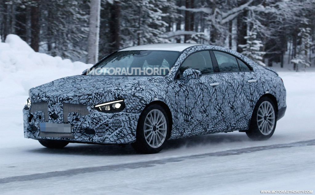 2020 Mercedes-Benz CLA spy shots and video