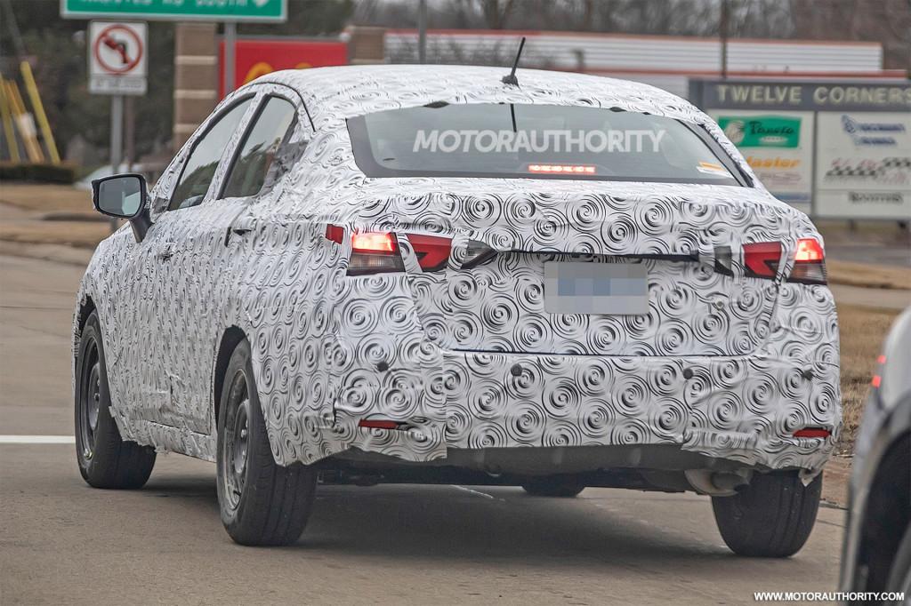 2020 Nissan Versa Spy Shots