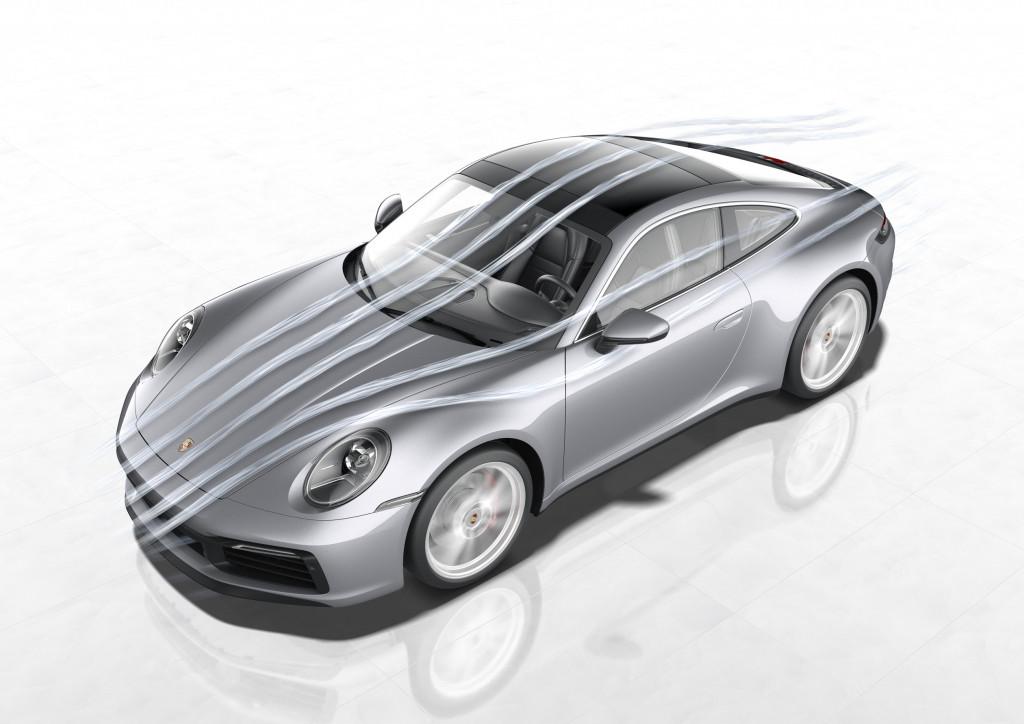 2020 Porsche 911 Carrera aerodynamics