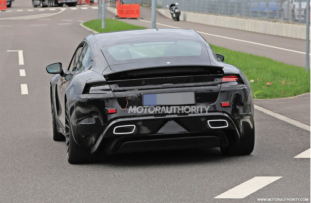 2020 Porsche 'Mission E' spy shots and video