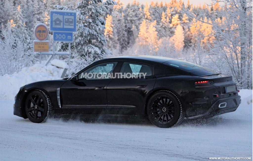 2020 Porsche Taycan spy shots and video