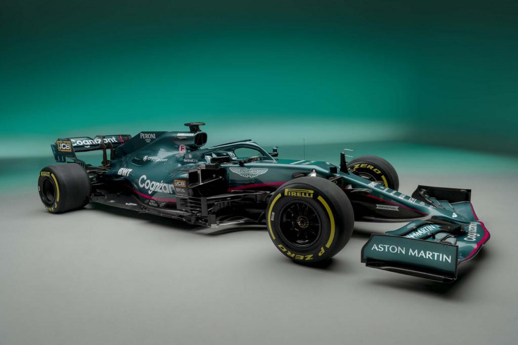 2021 Aston Martin AMR21 Formula One race car