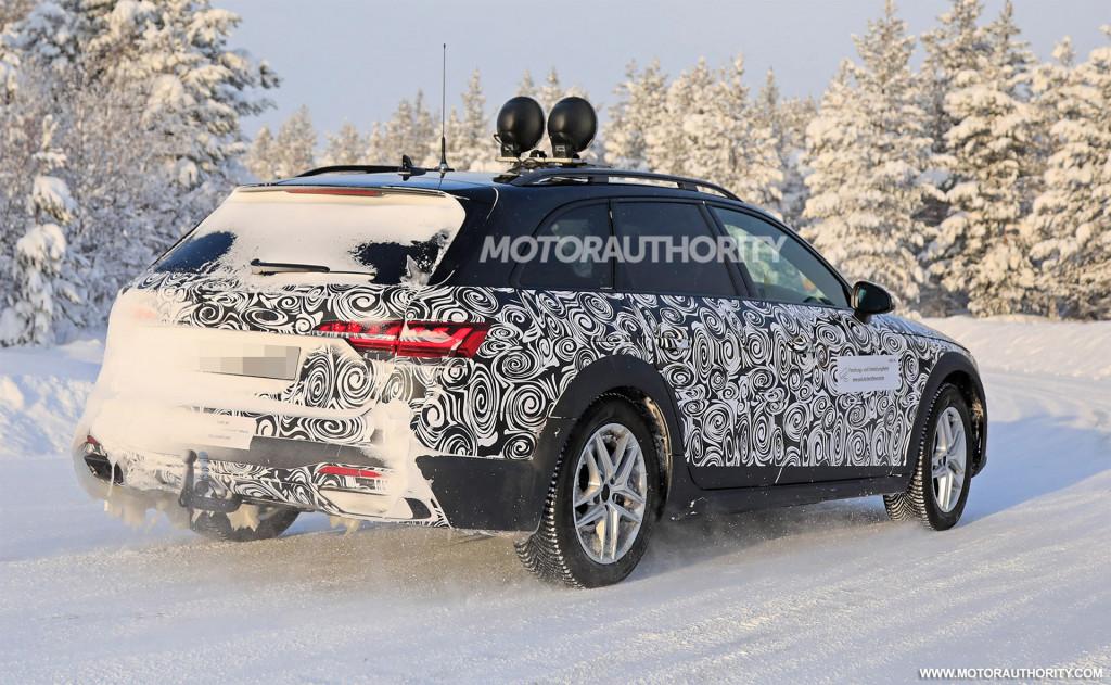 2021 Audi A4 Allroad facelift spy shots - Image via S. Baldauf/SB-Medien