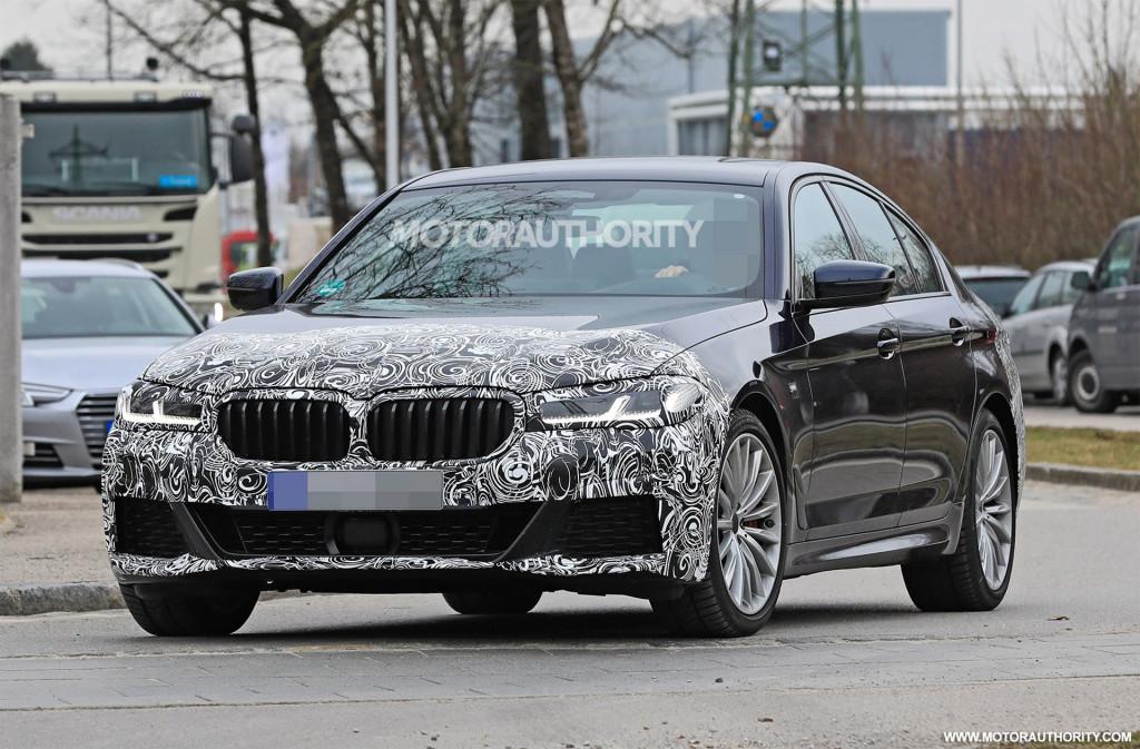 2021 BMW 5-Series facelift spy shots - Photo credit: S. Baldauf/SB-Medien