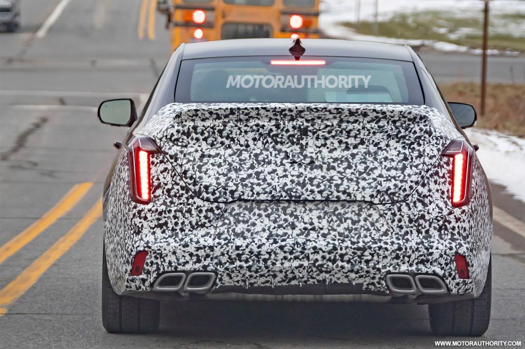 2022 Cadillac CT4-V Blackwing spy shots - Photo credit: S. Baldauf/SB-Medien