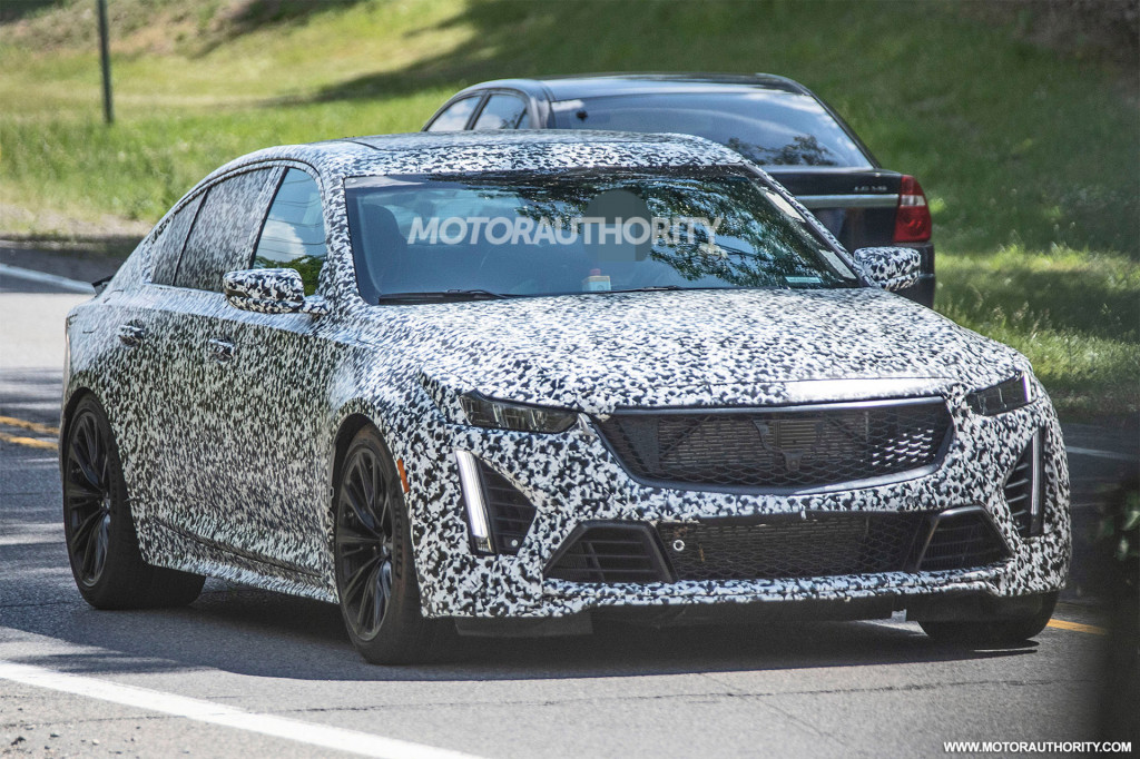 2021 Cadillac CT5-V Blackwing spy shots - Photo credit: S. Baldauf/SB-Medien