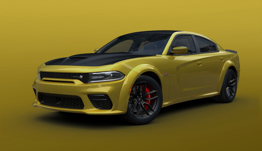 2021 Dodge Charger Scat Pack Widebody in Gold Rush paint