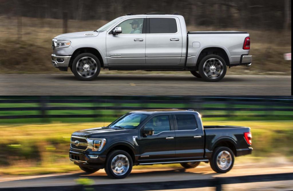 2021 Ford F-150 vs 2021 Ram 1500
