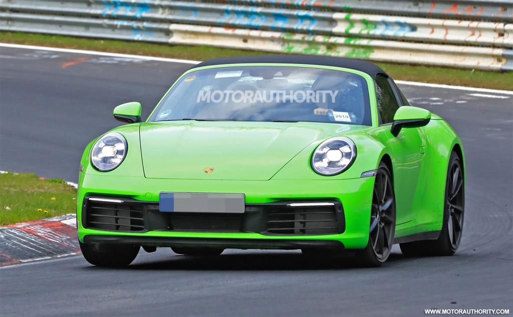 2021 Porsche 911 Targa spy shots