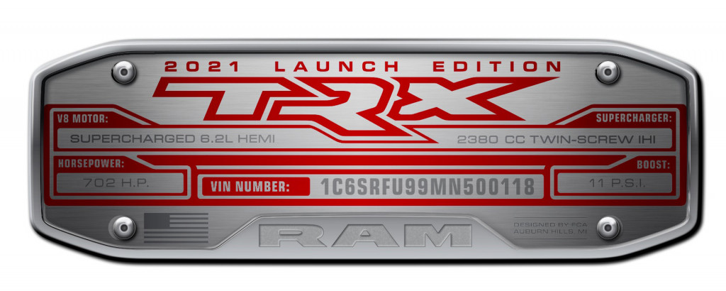 2021 Ram 1500 TRX Launch Edition