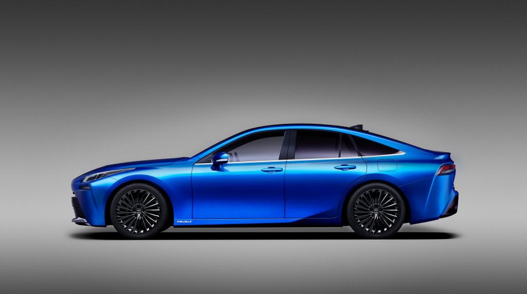 2021 Toyota Mirai hydrogen fuel-cell car revealed in concept form—as a sport sedan!