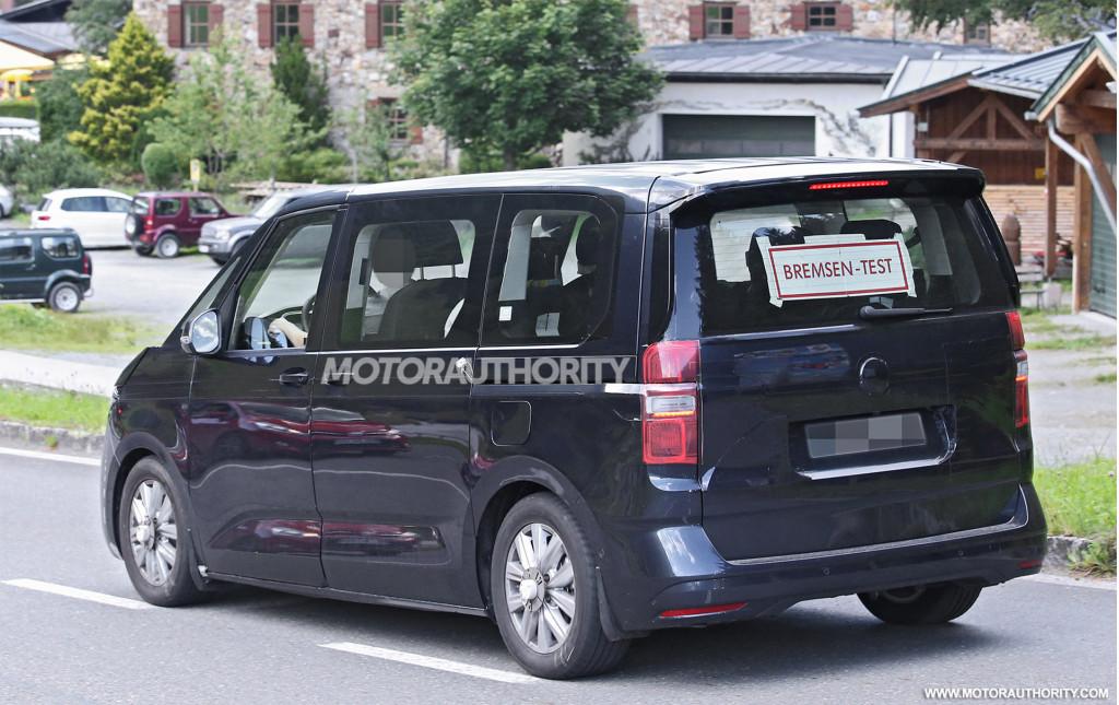 2021 volkswagen transporter (t7) spy shots: popular van