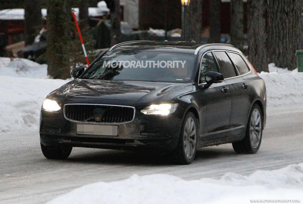 2021 Volvo V90 facelift spy shots - Photo credit: S. Baldauf/SB-Medien