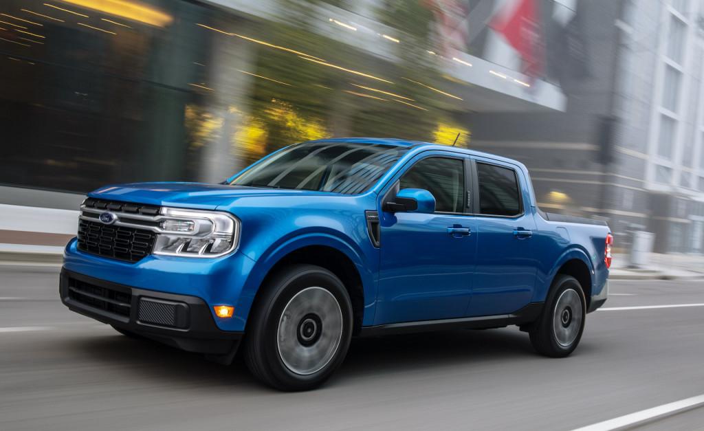 2022 Ford Maverick Hybrid pickup truck gets 42 mpg
