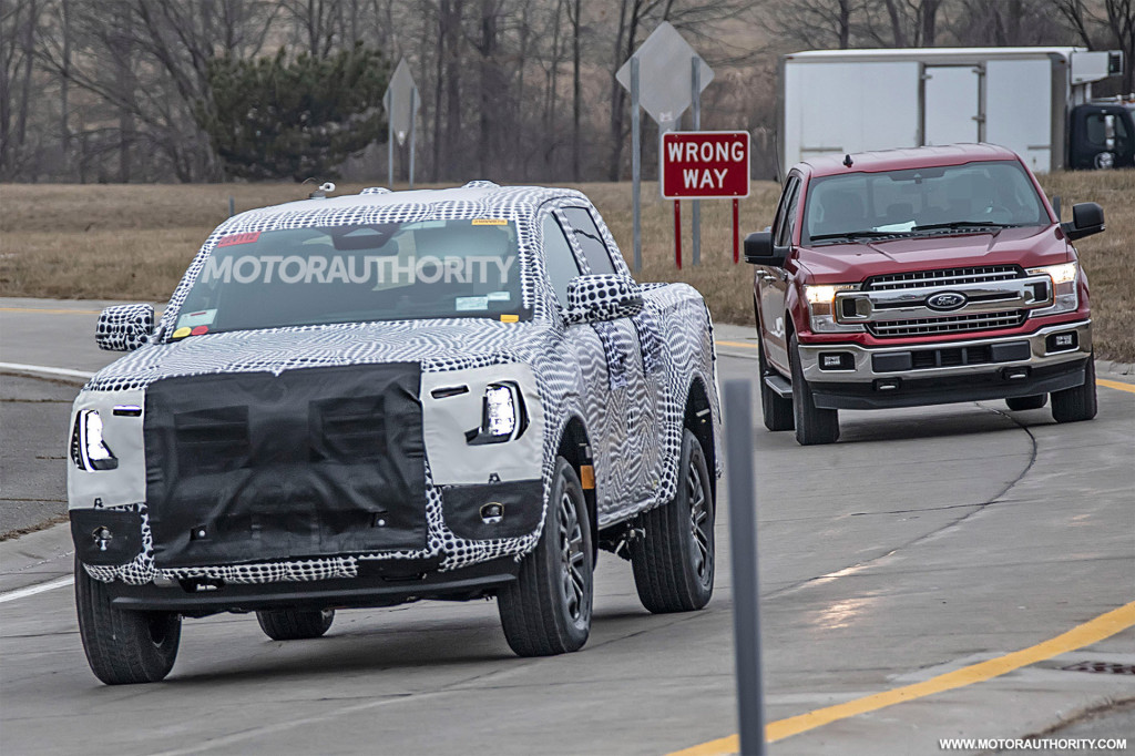 2022 Ford Ranger spy shots - Photo credit: S. Baldauf/SB-Medien