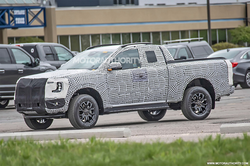 2022 Ford Ranger Super Cab spy shots - Photo credit: S. Baldauf/SB-Medien