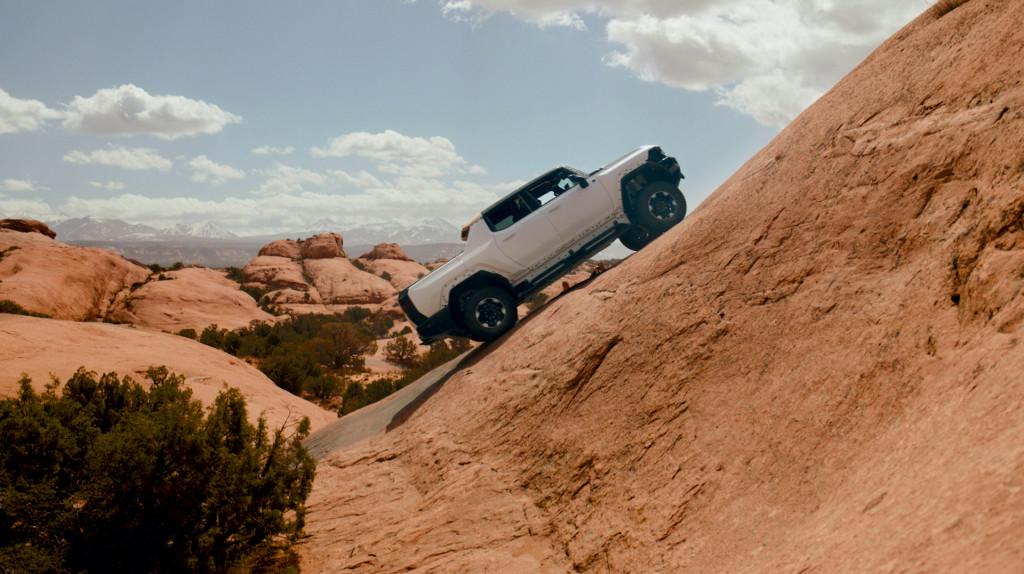 2022 GMC Hummer EV prototype testing in Moab