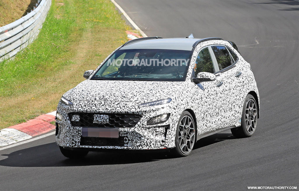 2022 Hyundai Kona N spy shots - Photo credit: S. Baldauf/SB-Medien