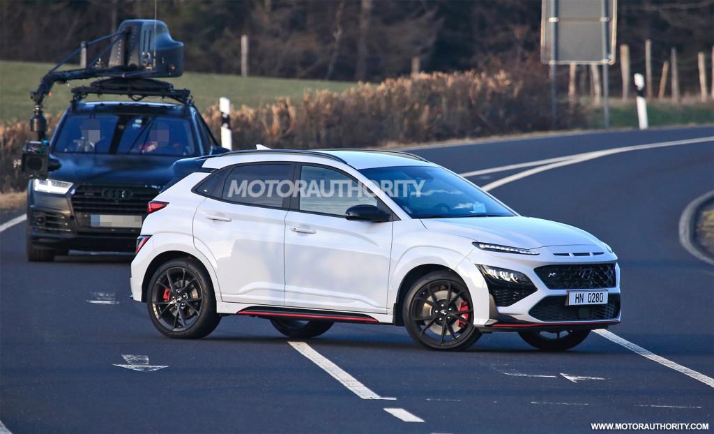 2022 Hyundai Kona N spy shots - Photo credit:S. Baldauf/SB-Medien