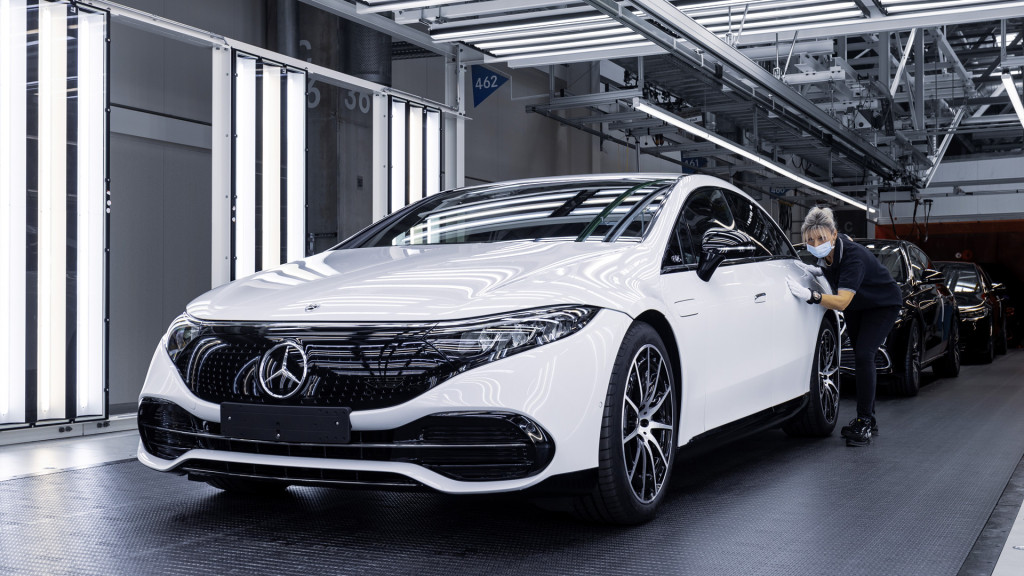 2022 Mercedes-Benz EQS production at plant in Sindelfingen, Germany