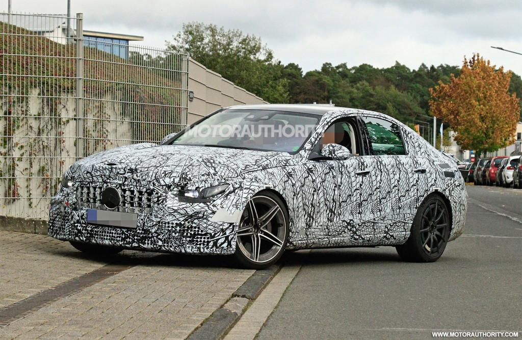 2023 Mercedes-Benz AMG C63 spy shots - Photo credit: S. Baldauf/SB-Medien