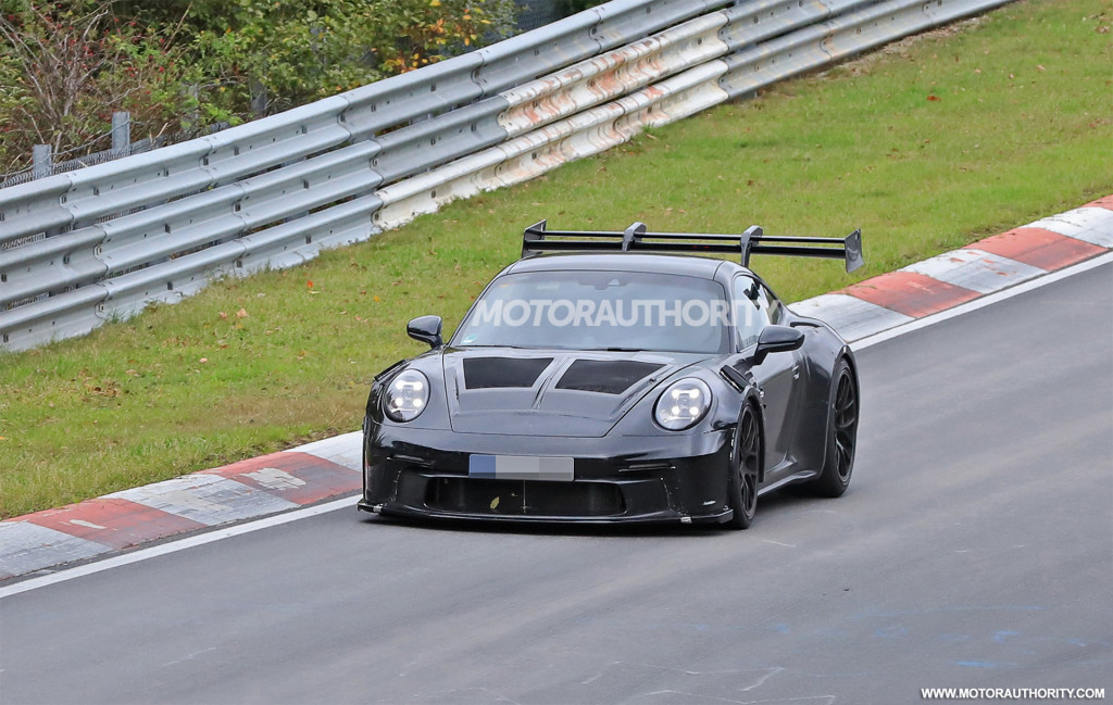 2023 Porsche 911 GT3 RS spy shots - Photo credit: S. Baldauf/SB-Medien