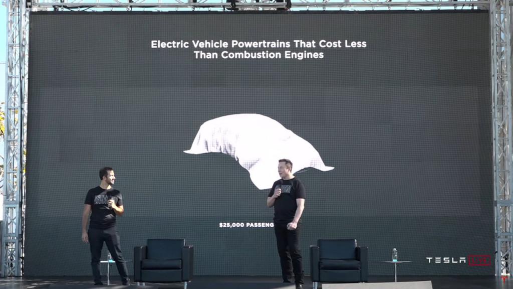 $25,000 Tesla teased for 2023 - Battery Day