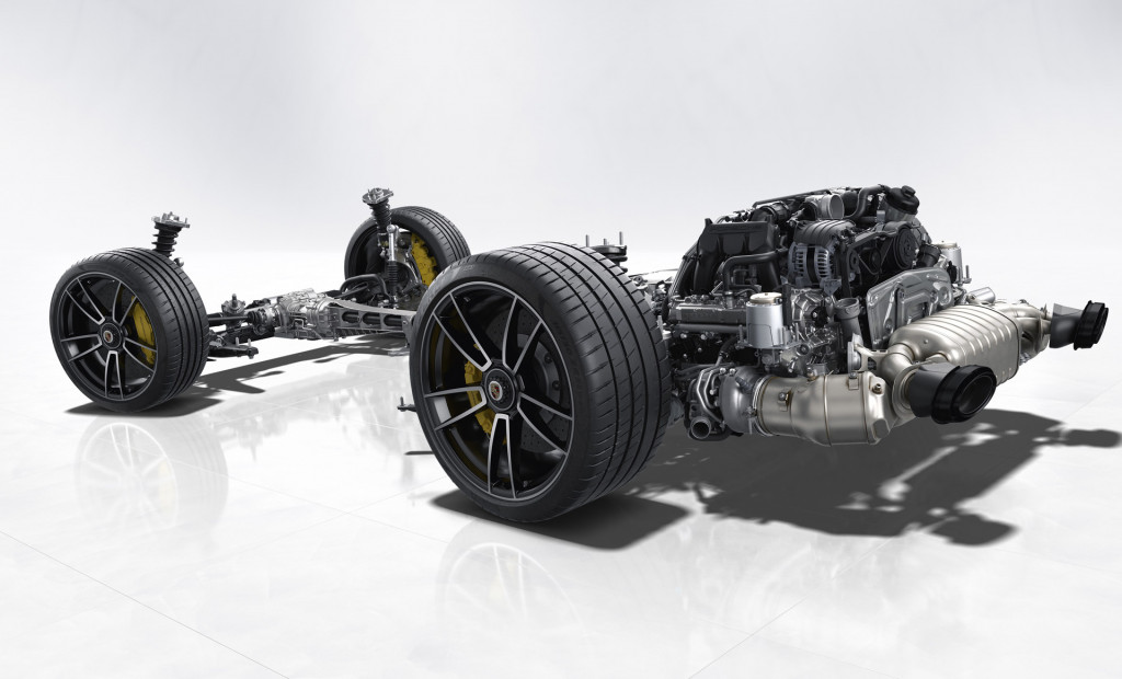 992-generation Porsche 911 Turbo S rolling chassis