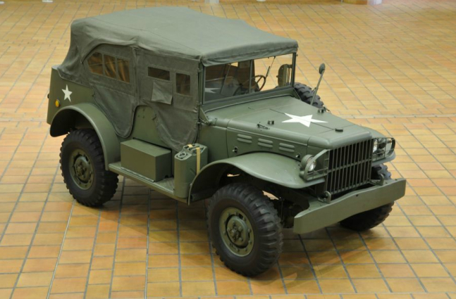 A 1942 Dodge Command Car, part of Prince Ranier III's collection