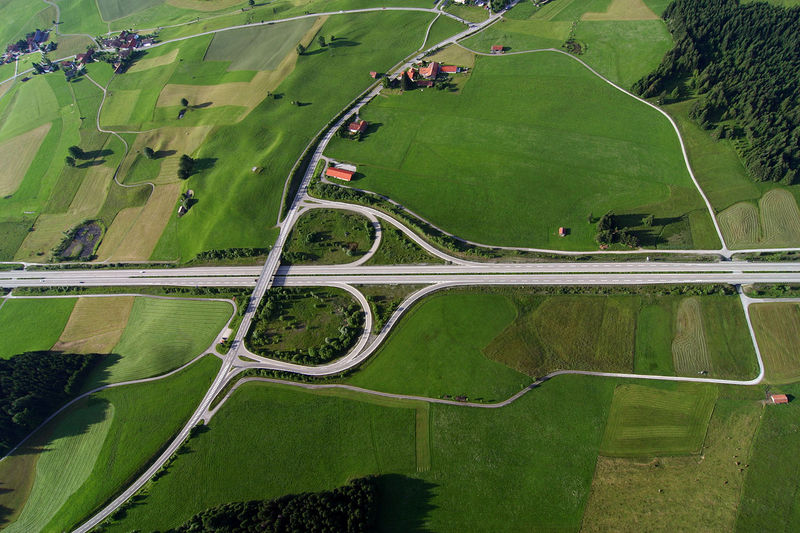 A classic butt-style interchange in Germany