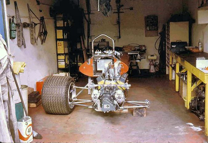 A F5000 Small Block Chevy was installed after its F1 career was over