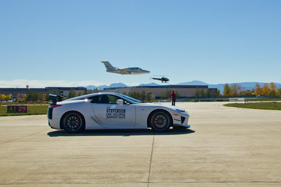 A Lexus LFA Nürburgring takes on an Eclipse 500 jet - image: Lexus