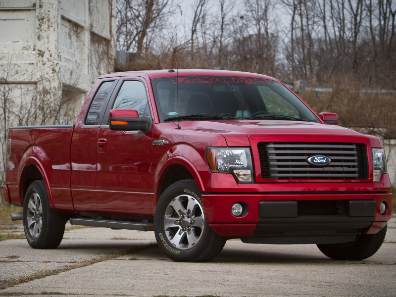 A Roush-tuned 5.0-liter Ford F-150