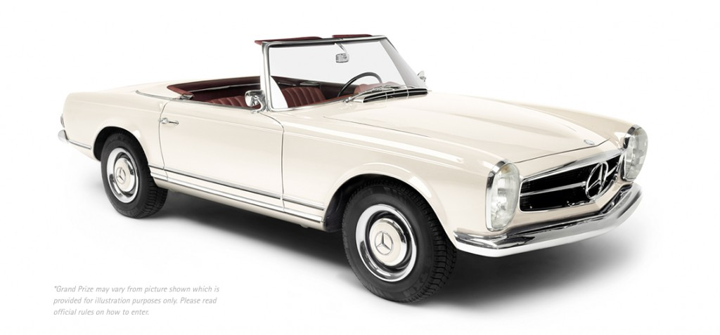 A vintage Mercedes-Benz 280 SL, like the one being given away by Radeberger Pilsner beer