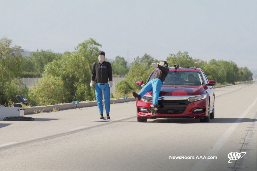 AAA tests pedestrian detection systems in 2019 models