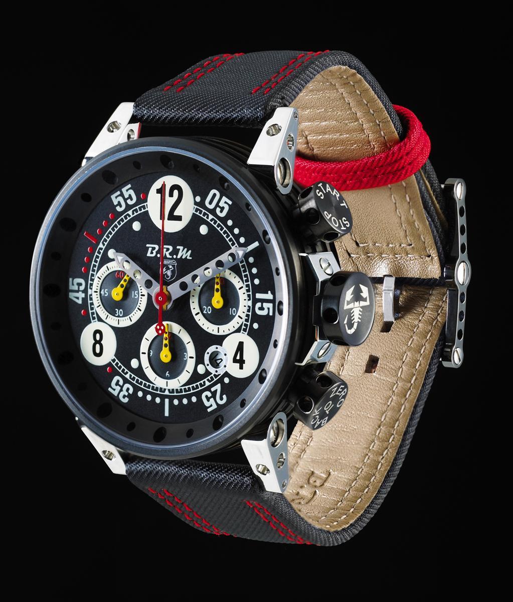Abarth BRM V12-T-44 Watch Precedes Abarth Fiat 500 U.S. Arrival