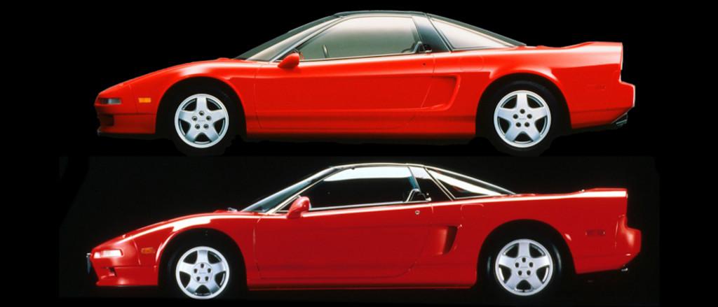Acura NS-X concept vs production Acura NSX