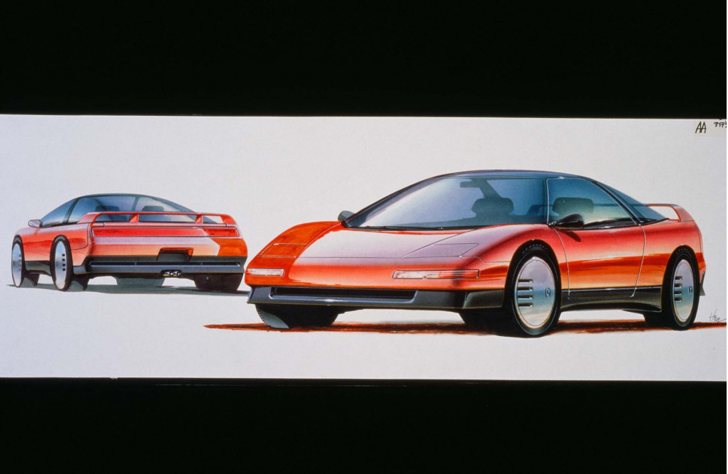 Original NSX Sketch - Acura NSX 30th Anniversary