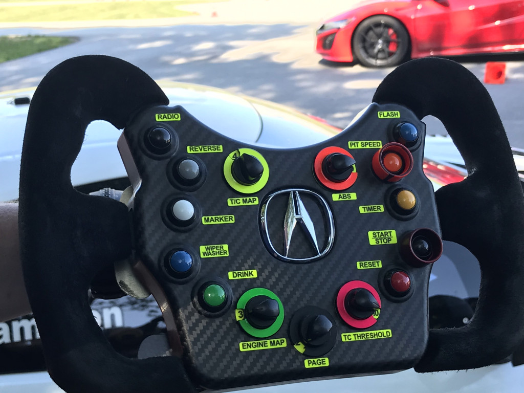 Acura NSX GT3 Evo steering wheel