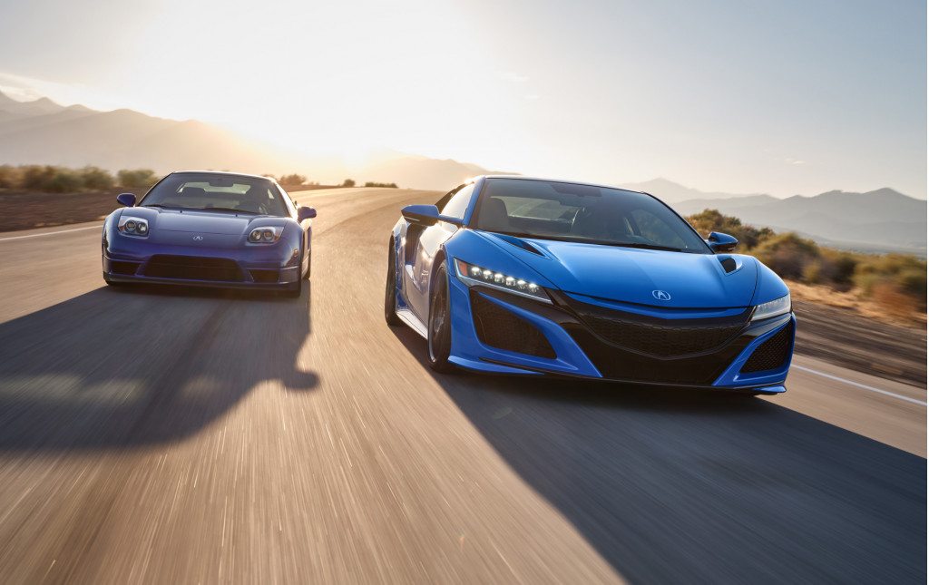 2021 acura nsx arrives with long beach blue heritage color