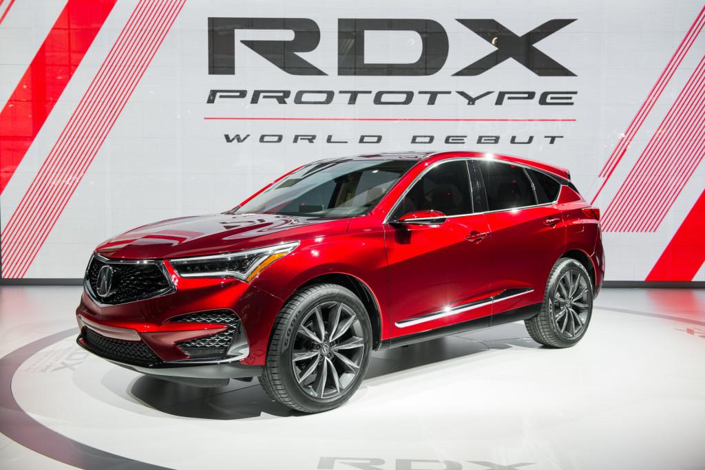 2019 Acura RDX Prototype, 2018 Detroit auto show