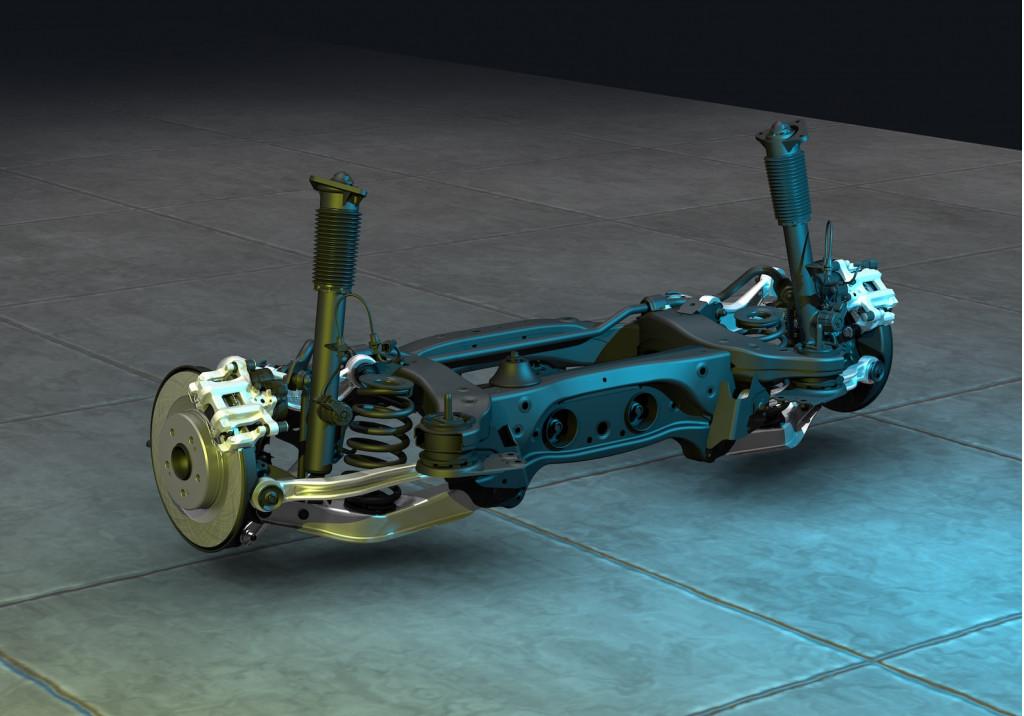 2021 Acura TLX rear suspension subframe