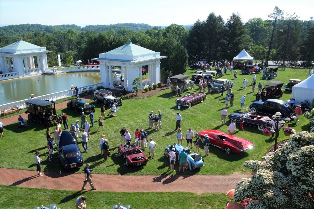 Aerial view of the Elegance at Hershey concours | Andy Reid photo