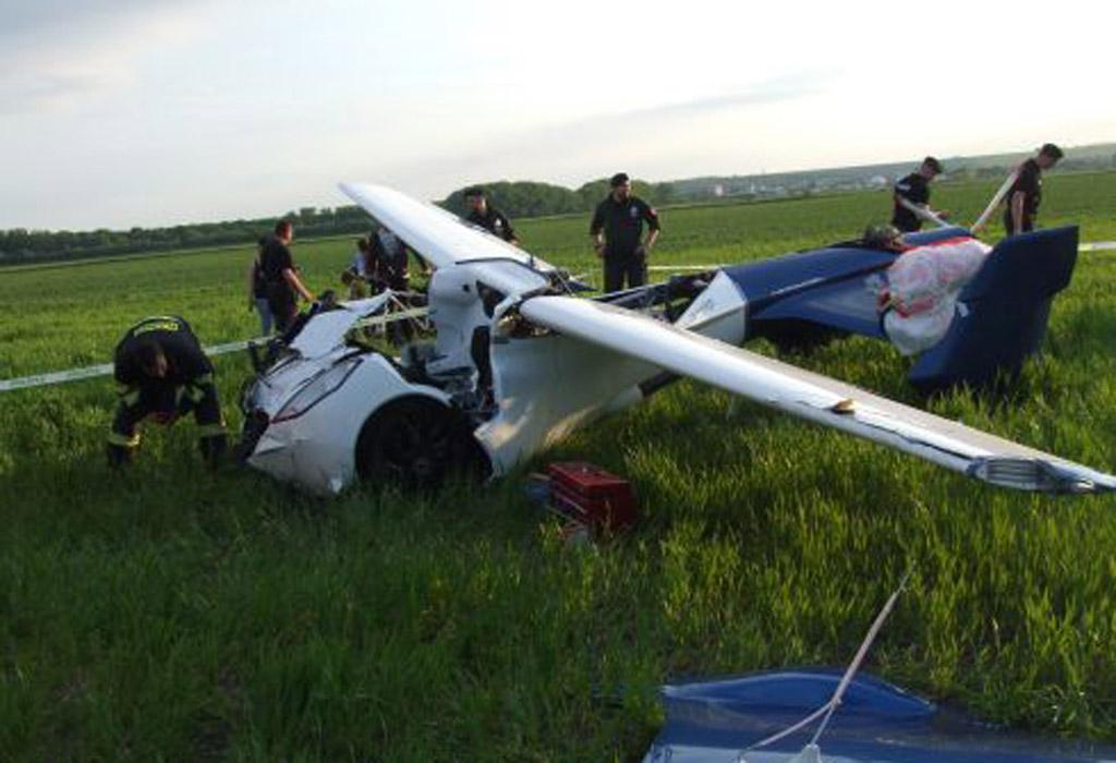 Aeromobil flying car wreckage - Image via SME