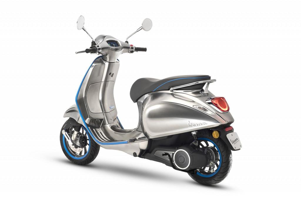 All electric Vespa Elettrica scooter