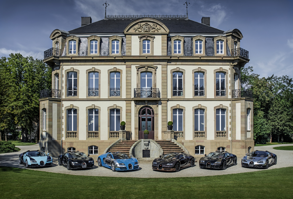 All six Bugatti Veyron Legends in Molsheim, France